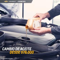 AGENDA TU CAMBIO DE ACEITE DESDE $90.000